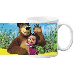 "Керамична фото чаша ""Маша и мечока""-1"