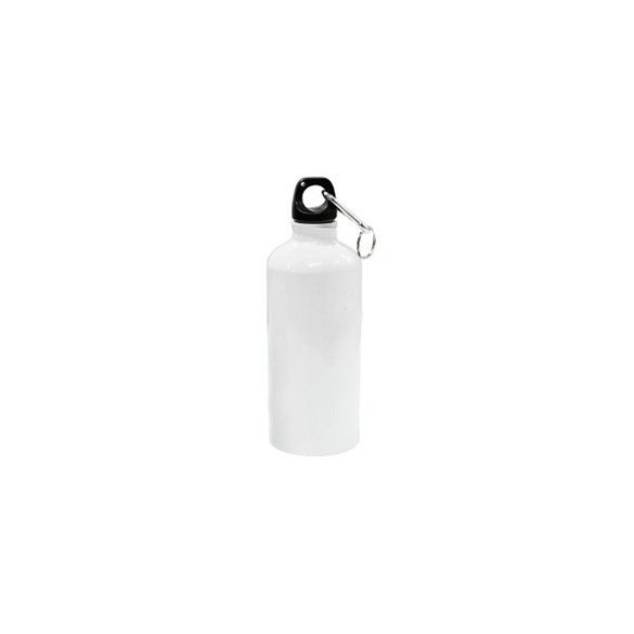 Алуминиева фото бутилка - бяла