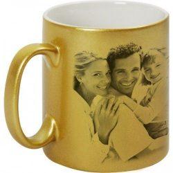 Керамична чаша - златна