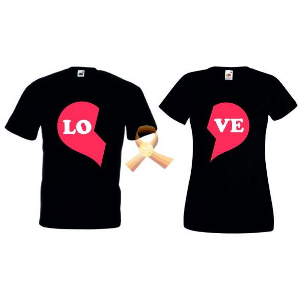 Черни тениски за двама - LO-VE