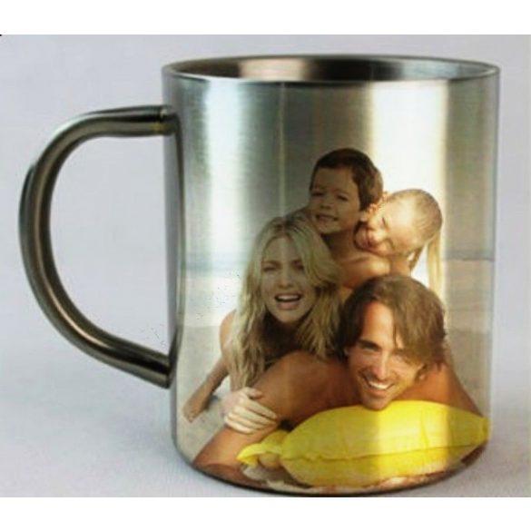 Метална чаша с двойни стени - с ваша снимка или текст