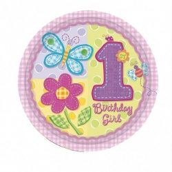 чинийки 1-ви рожден ден момиче еднократни