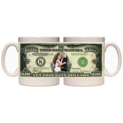 Керамична фото чаша с вашият лик върху долар