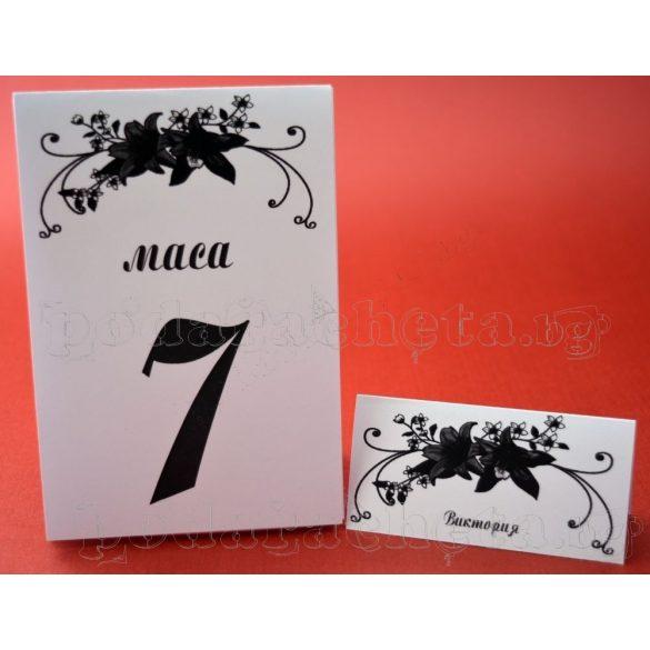 Тейбъл картичка за маса № 29