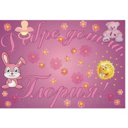 Плакат за изписване на бебе - момиче