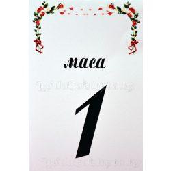 Табелка за маса № 39