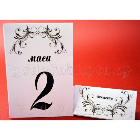Тейбъл картичка за маса № 40