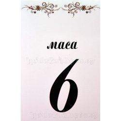 Табелка за маса № 33