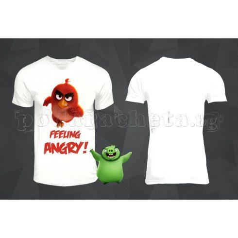 Бяла мъжка тениска - Angry Birds 5
