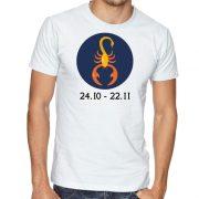 Бяла мъжка тениска - Зодия Скорпион