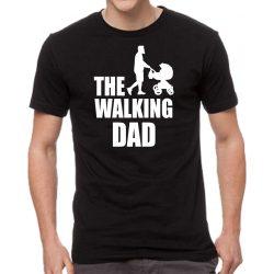 Черна мъжка тениска - The Walking Dad