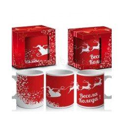 Коледна чаша в кутия Весела Коледа