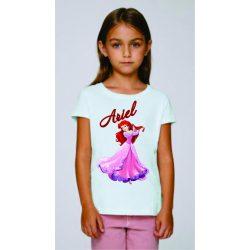 Бяла детска тениска - Принцеса Ариел