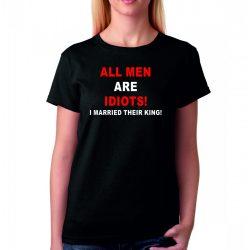 Черна мъжка тениска - All men are idiots