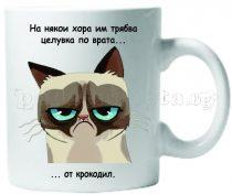 Бяла керамична чаша - Grumpy Cat 25