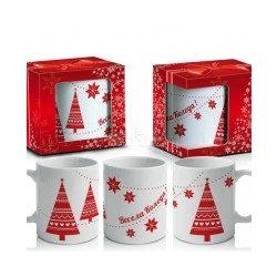 Коледна чаша в кутия Весела Коледа - 2