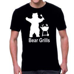Черна мъжка тениска- Bear Grills