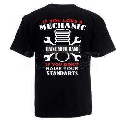 Черна мъжка тениска - Механик