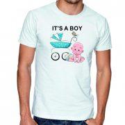 Бяла мъжка тениска - It's a boy