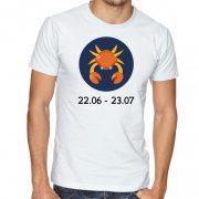 Бяла мъжка тениска - Зодия Рак