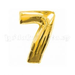 Балон цифра 7 - златист