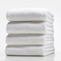 Бяла хавлиена кърпа - Малка