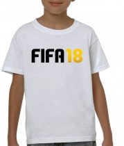 Бяла детска тениска - FIFA18