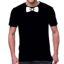 Черна мъжка тениска - Папийонка