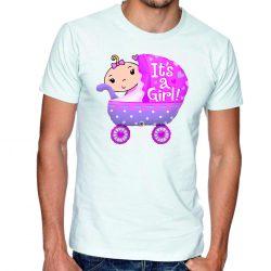 Бяла мъжка тениска - It's a girl