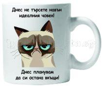 Бяла керамична чаша - Grumpy Cat 38