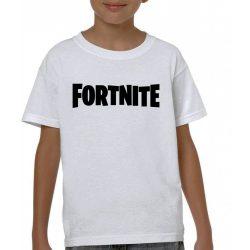 Бяла детска тениска - Fortnite