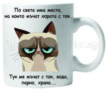 Бяла керамична чаша - Grumpy Cat 36