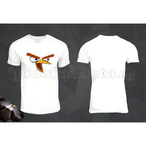 Бяла мъжка тениска - Angry Birds 2