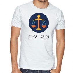 Бяла мъжка тениска - Зодия Везни