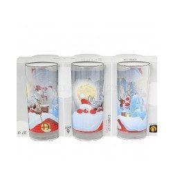 Коледна чаша за безалкохолно - Дядо Коледа и Рудолф 6 бр