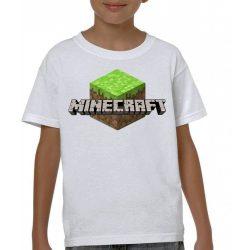 Бяла детска тениска - Minecraft 2