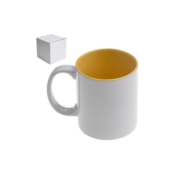 Бяла керамична чаша - Целувка