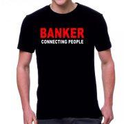 Черна мъжка тениска - Banker