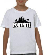 Бяла детска тениска - Fortnite 3