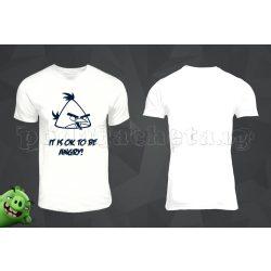 Бяла мъжка тениска - Angry Birds 3