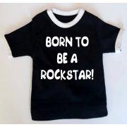 Мини тениска за кола - Born to be a rockstar