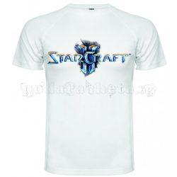 Бяла мъжка тениска - Геймърска Starcraft 2