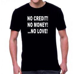 Черна мъжка тениска - No credit
