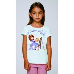 Бяла детска тениска - Принцеса София