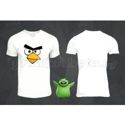 Бяла мъжка тениска - Angry Birds 1