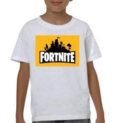 Бяла детска тениска - Fortnite 2