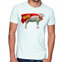 Бяла мъжка тениска - Супер Жоро