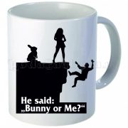 Забавна керамична чаша - Bunny or Me?