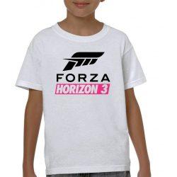 Бяла детска тениска - Forza Horizon 3