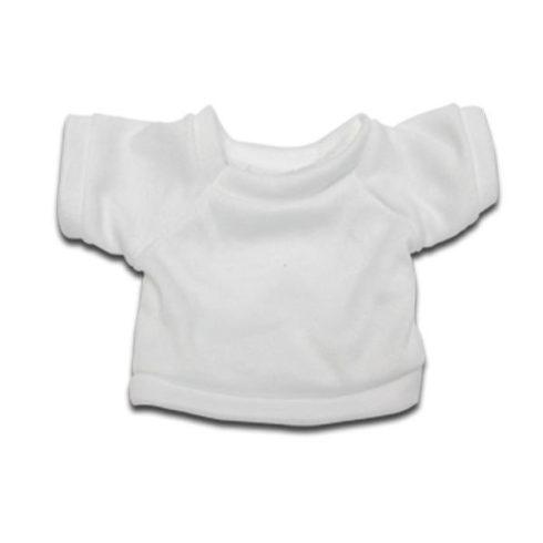 Бяла мини тениска за плюшена играчка